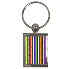 Basic Colors Curly Stripes Key Chain (rectangle) by BestCustomGiftsForYou
