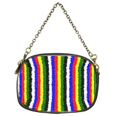 Basic Colors Curly Stripes Chain Purse (one Side) by BestCustomGiftsForYou