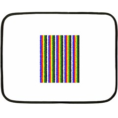 Basic Colors Curly Stripes Mini Fleece Blanket (two Sided) by BestCustomGiftsForYou