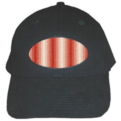 Red Curly Stripes Black Baseball Cap by BestCustomGiftsForYou