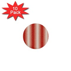 Red Curly Stripes 1  Mini Button (10 Pack) by BestCustomGiftsForYou