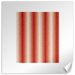 Red Curly Stripes Canvas 20  X 20  (unframed)