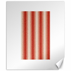 Red Curly Stripes Canvas 20  X 24  (unframed) by BestCustomGiftsForYou