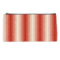 Red Curly Stripes Pencil Case by BestCustomGiftsForYou