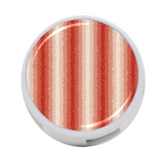 Red Curly Stripes 4 Port Usb Hub (two Sides) by BestCustomGiftsForYou