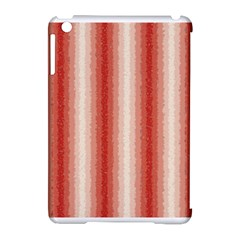 Red Curly Stripes Apple Ipad Mini Hardshell Case (compatible With Smart Cover) by BestCustomGiftsForYou