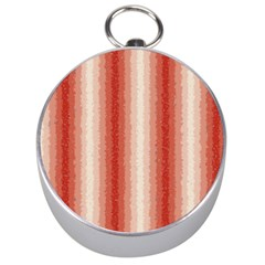 Red Curly Stripes Silver Compass by BestCustomGiftsForYou