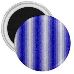 Dark Blue Curly Stripes 3  Button Magnet by BestCustomGiftsForYou