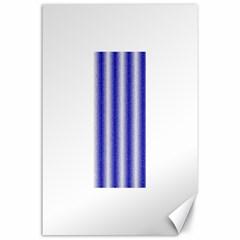 Dark Blue Curly Stripes Canvas 24  X 36  (unframed) by BestCustomGiftsForYou