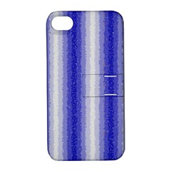 Dark Blue Curly Stripes Apple Iphone 4/4s Hardshell Case With Stand by BestCustomGiftsForYou