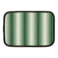 Dark Green Curly Stripes Netbook Sleeve (medium) by BestCustomGiftsForYou