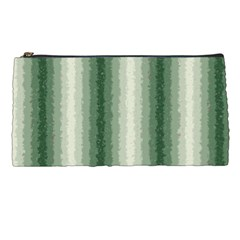 Dark Green Curly Stripes Pencil Case by BestCustomGiftsForYou