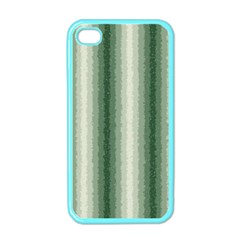 Dark Green Curly Stripes Apple Iphone 4 Case (color) by BestCustomGiftsForYou