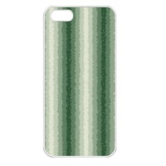 Dark Green Curly Stripes Apple Iphone 5 Seamless Case (white) by BestCustomGiftsForYou