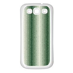 Dark Green Curly Stripes Samsung Galaxy S3 Back Case (white) by BestCustomGiftsForYou