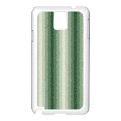 Dark Green Curly Stripes Samsung Galaxy Note 3 N9005 Case (white) by BestCustomGiftsForYou