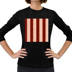 Native American Curly Stripes   1 Women s Long Sleeve T Shirt (dark Colored) by BestCustomGiftsForYou
