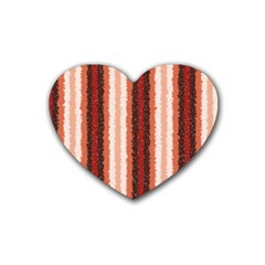 Native American Curly Stripes   1 Drink Coasters 4 Pack (heart)  by BestCustomGiftsForYou