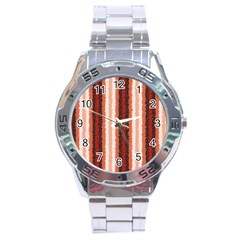 Native American Curly Stripes   1 Stainless Steel Watch by BestCustomGiftsForYou
