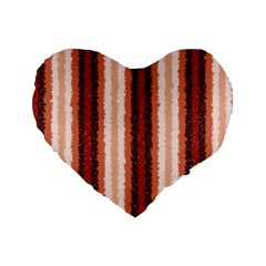 Native American Curly Stripes   1 16  Premium Heart Shape Cushion  by BestCustomGiftsForYou