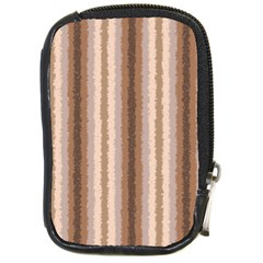 Native American Curly Stripes   3 Compact Camera Leather Case by BestCustomGiftsForYou