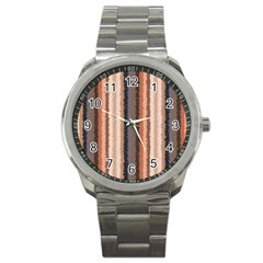 Native American Curly Stripes   4 Sport Metal Watch by BestCustomGiftsForYou