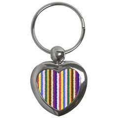 Vivid Colors Curly Stripes   1 Key Chain (heart) by BestCustomGiftsForYou