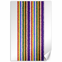Vivid Colors Curly Stripes   1 Canvas 12  X 18  (unframed) by BestCustomGiftsForYou