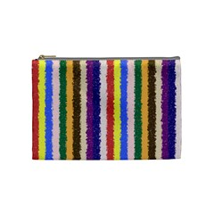 Vivid Colors Curly Stripes   1 Cosmetic Bag (medium) by BestCustomGiftsForYou
