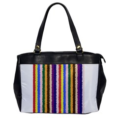 Vivid Colors Curly Stripes   1 Oversize Office Handbag (one Side) by BestCustomGiftsForYou