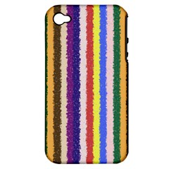 Vivid Colors Curly Stripes   1 Apple Iphone 4/4s Hardshell Case (pc+silicone) by BestCustomGiftsForYou