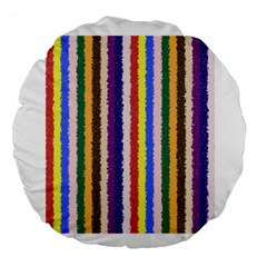 Vivid Colors Curly Stripes   1 18  Premium Round Cushion  by BestCustomGiftsForYou