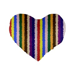 Vivid Colors Curly Stripes   1 16  Premium Heart Shape Cushion  by BestCustomGiftsForYou