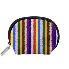 Vivid Colors Curly Stripes - 1 Accessory Pouch (Small) by BestCustomGiftsForYou
