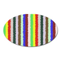 Vivid Colors Curly Stripes   2 Magnet (oval) by BestCustomGiftsForYou