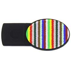 Vivid Colors Curly Stripes   2 2gb Usb Flash Drive (oval) by BestCustomGiftsForYou