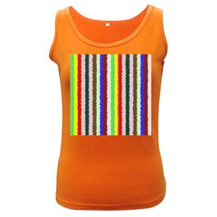 Vivid Colors Curly Stripes - 2 Women s Tank Top (Dark Colored) by BestCustomGiftsForYou