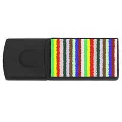 Vivid Colors Curly Stripes   2 4gb Usb Flash Drive (rectangle) by BestCustomGiftsForYou