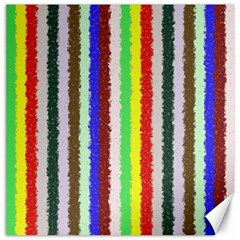 Vivid Colors Curly Stripes   2 Canvas 12  X 12  (unframed) by BestCustomGiftsForYou