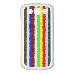 Vivid Colors Curly Stripes   2 Samsung Galaxy S3 Back Case (white) by BestCustomGiftsForYou