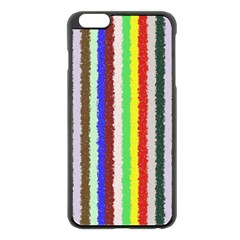 Vivid Colors Curly Stripes   2 Apple Iphone 6 Plus Black Enamel Case by BestCustomGiftsForYou