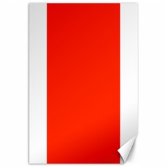 Bright Red Canvas 20  X 30  (unframed) by BestCustomGiftsForYou