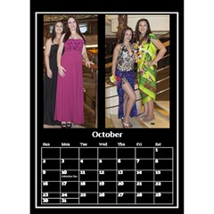 Black And White Mutli Photo Calendar 2018 By Deborah   Desktop Calendar 6  X 8 5    8lp428sw7xw1   Www Artscow Com Oct 2018