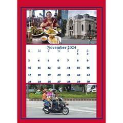 Red And White Multi Photo Calendar 2017 By Deborah   Desktop Calendar 6  X 8 5    4uas9t6mpkp2   Www Artscow Com Nov 2017