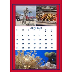 Red And White Multi Photo Calendar 2017 By Deborah   Desktop Calendar 6  X 8 5    4uas9t6mpkp2   Www Artscow Com Apr 2017
