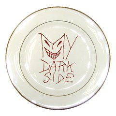 My Dark Side Typographic Design Porcelain Display Plate by dflcprints