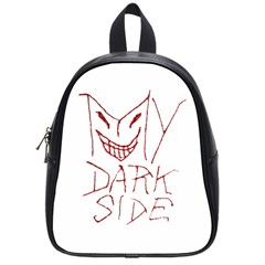 My Dark Side Typographic Design School Bag (small) by dflcprints