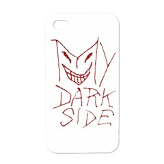 My Dark Side Typographic Design Apple Iphone 4 Case (white) by dflcprints