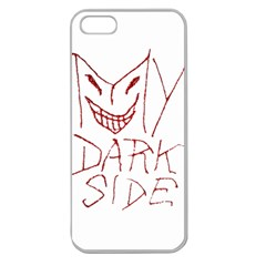 My Dark Side Typographic Design Apple Seamless Iphone 5 Case (clear) by dflcprints