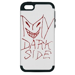 My Dark Side Typographic Design Apple Iphone 5 Hardshell Case (pc+silicone) by dflcprints